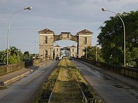 Fronteira entre Brasil e Uruguai, em Jaguarão