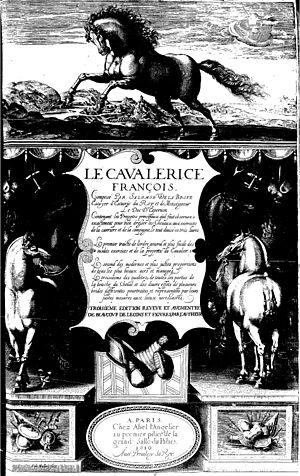 Salomon de La Broue - Title-page of the 1610 edition of the Cavalerice françois