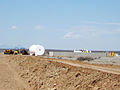 Fuel storage area under construction Spaceport America.jpg