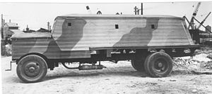 Bison concrete armoured lorry - Type 3 Bison