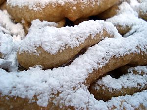 Funnel cake with confectioner's sugar at the M...