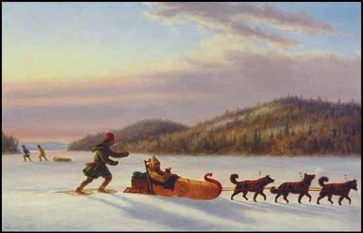 Fur Trader in Toboggan oil painting by Cornelius Krieghoff