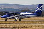 G-SGTS Twin Otter Loganair (25697646455).jpg