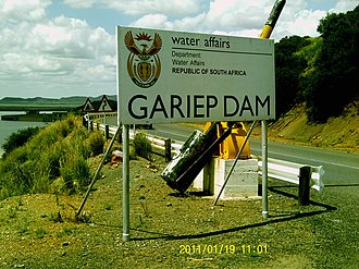 Gariep Dam - Image: GC Gariep Dam (7)