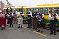 Gaiteiros na Festa dos Piratas do Grove. Galiza.jpg