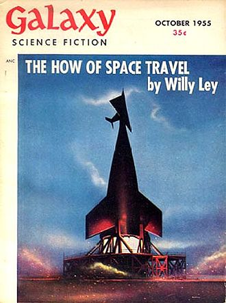 Willy Ley - Another Ley science column was cover-featured on the October 1955 Galaxy
