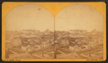 Galveston, Texas. (Bird's eye view of businesses and view of harbor.), by P. H. Rose.png