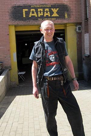 GaraSh - Alexandr Kullinkovich posing behind the scenes of «GaraSh» movie in Minsk, Belarus