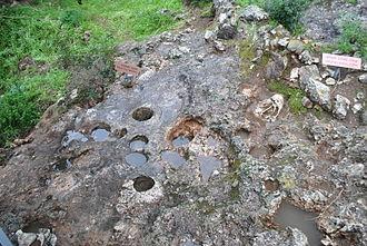 Bedrock mortar - Image: Garrod's terrace el Wad