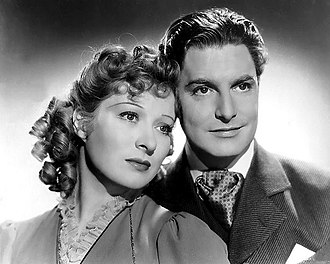 Robert Donat - Promotional photograph of Greer Garson and Robert Donat in Goodbye, Mr. Chips (1939)
