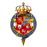 Garter encircled arms of Prince Christian of Schleswig-Holstein.png