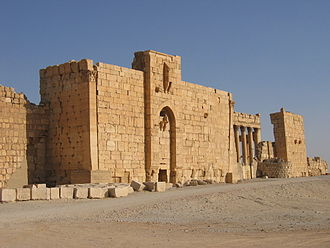 Bel (mythology) - Image: Gate of the fortified Temple of Bel Palmyra Syria
