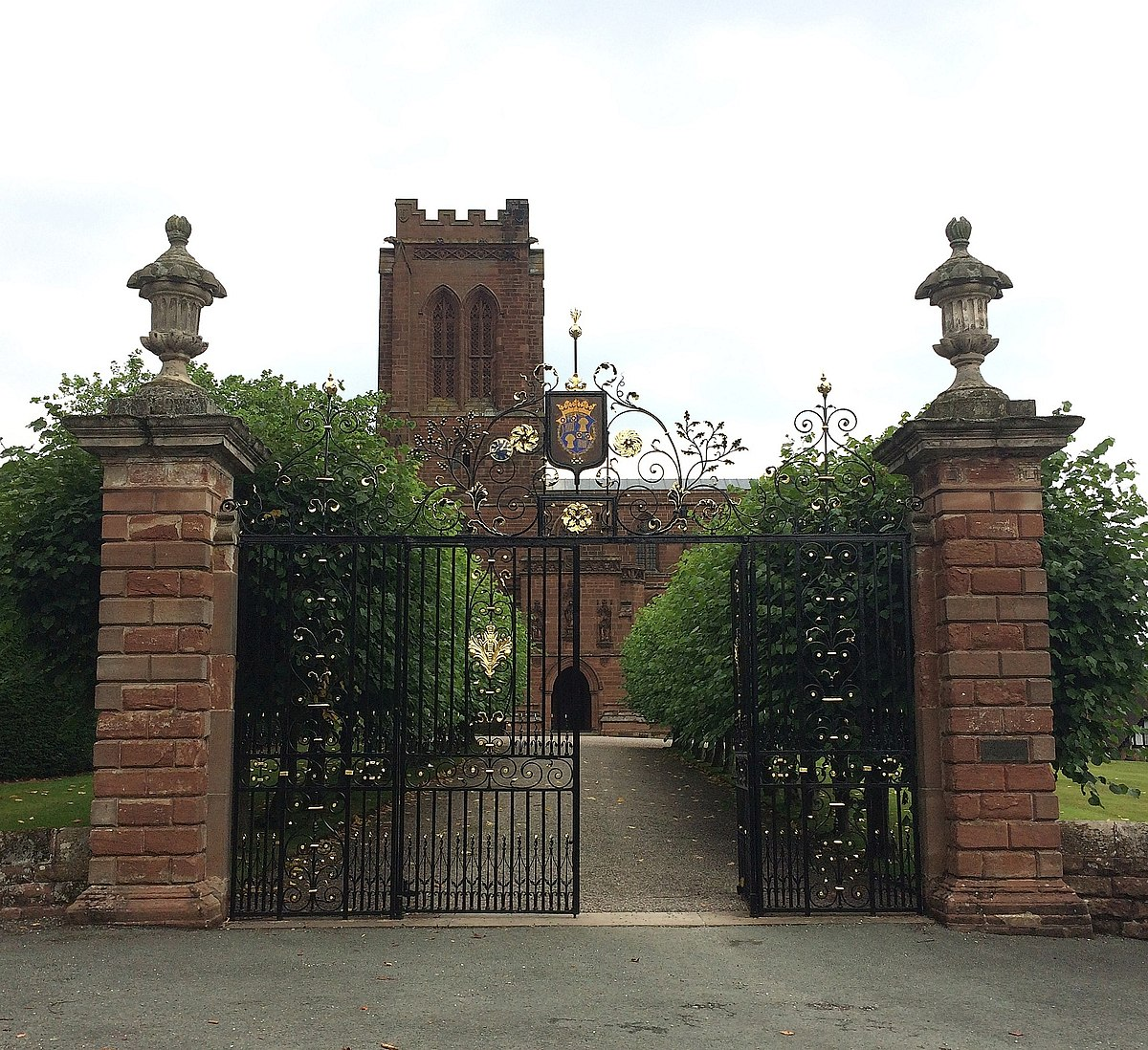 Gates of St Mary's Church, Eccleston, Cheshire 2.JPG