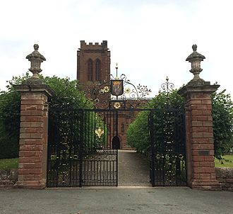 St Mary's Church, Eccleston - Wrought-iron gates on Church Road