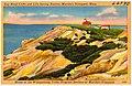 Gay Head Cliffs and Life Saving Station, Martha's Vineyard, Mass., home of the Wampamoag Tribe, original settlers of Martha's Vineyard (62940).jpg
