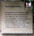 Gedenktafel An der Frauenkirche (Meißen) Tuchmachertor.jpg