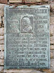 Gedenktafel an Haus Hove in Wengern (Quelle: Wikimedia)