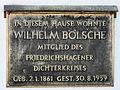 Gedenktafel Müggelseedamm 254 (Frierh) Wilhelm Bölsche.jpg