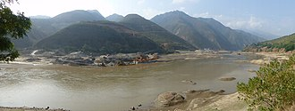 Red River (Asia) - Red River in Yuanyang County/Gejiu City, Yunnan