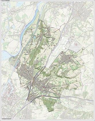 Meerssen - Dutch Topographic map of Meerssen, June 2015