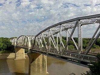 N6 (South Africa) - Image: General Hertzog Bridge over Orange River at Aliwal North
