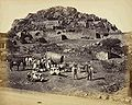 General view inside Fort, with Europeans and party posed in foreground, Chitradurga.JPG