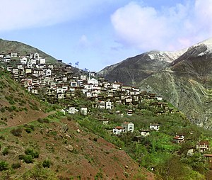 Artvin - Artvin city from Mamacimla district, 1905-1915, taken by Sergey Prokudin-Gorsky