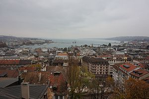 Geneva and Lake Geneva View