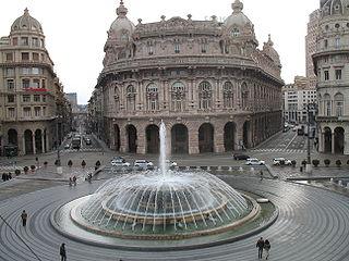 square in Genova, Italy