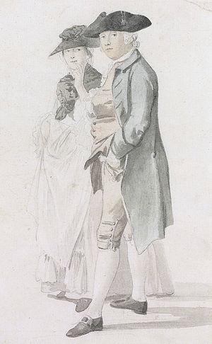 George Alexander Stevens - George Alexander Stevens and Mrs Paul Sandby (Paul Sandby)