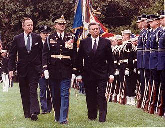 József Antall - Antall with U.S. President George H. W. Bush in October 1990