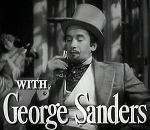 George Sanders - As Lord Henry Wotton in the trailer for The Picture of Dorian Gray (1945)
