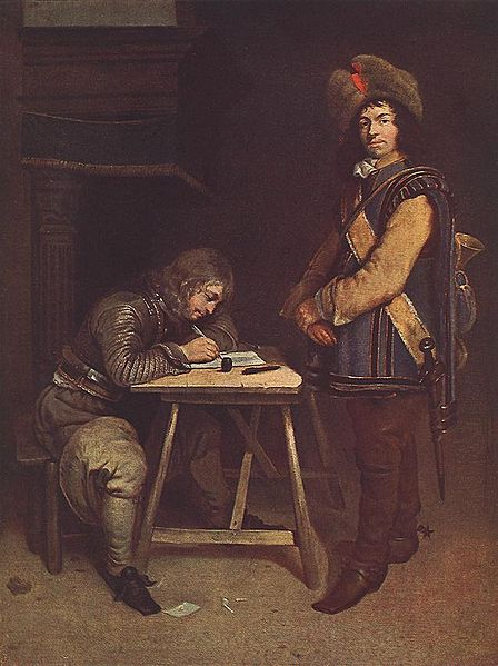 http://upload.wikimedia.org/wikipedia/commons/thumb/c/c0/Gerard_ter_Borch_%28II%29_-_Officer_Writing_a_Letter_-_WGA22151.jpg/448px-Gerard_ter_Borch_%28II%29_-_Officer_Writing_a_Letter_-_WGA22151.jpg
