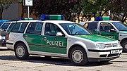 VW Golf IV Variant als Streifenwagen der s�chsischen Polizei