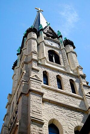 Gesu Church (Milwaukee, Wisconsin) - Image: Gesu Church, Milwaukee, West Tower