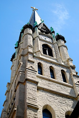 Gesu Church (Milwaukee, Wisconsin) - Image: Gesu Church, Milwaukee, West Tower