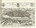 Gezicht op Sevilla, 1726 Sevilla (titel op object) Les Forces de l'Europe, Asie, Afrique et Amerique Comme aussi les Cartes des Côtes de France et d'Espagne (serietitel op object), RP-P-OB-83.036-175.jpg