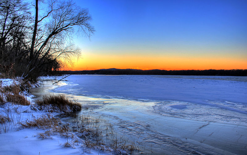 File:Gfp-sunset-over-wisconsin-river-in-winter.jpg