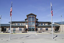 Gillette College main building entrance in Gillette, Wyoming.jpg