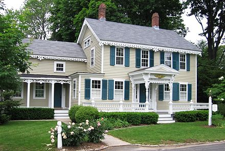Single-family detached house in Essex, Connecticut, USA. Gingerbread House Essex CT.jpg