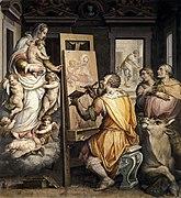 Giorgio Vasari - St Luke Painting the Virgin - WGA24311