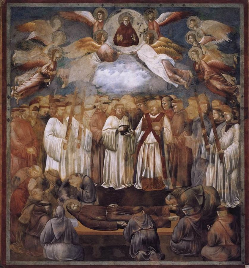 Death and Ascension of St Francis