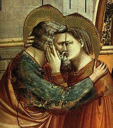 Giotto, Incontro di Anna e Gioacchino alla Porta d'Oro (1303-1305 circa), dettaglio