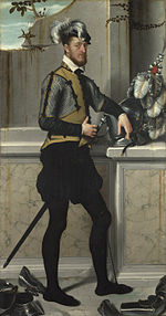 Giovanni Battista Moroni - A Knight with his Jousting Helmet - Google Art Project.jpg