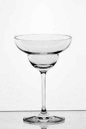 Margarita - A traditional margarita glass