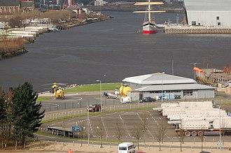 Glasgow City Heliport - Image: Glasgow City Heliport (EGEG)