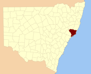 Gloucester County, New South Wales - Location in New South Wales