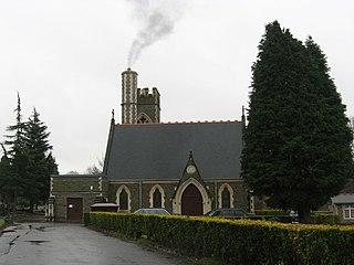 Glyntaff village in the United Kingdom