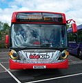 Go North East bus 5242 Scania CN230 Omnicity NK56 KHL The Red Kite livery Metrocentre rally 2009 pic 1.JPG