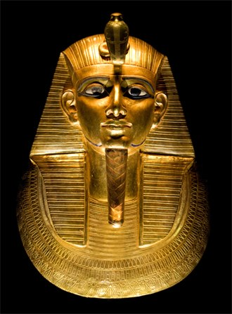 Psusennes I - Gold burial mask of King Psusennes I, discovered in 1940 by Pierre Montet